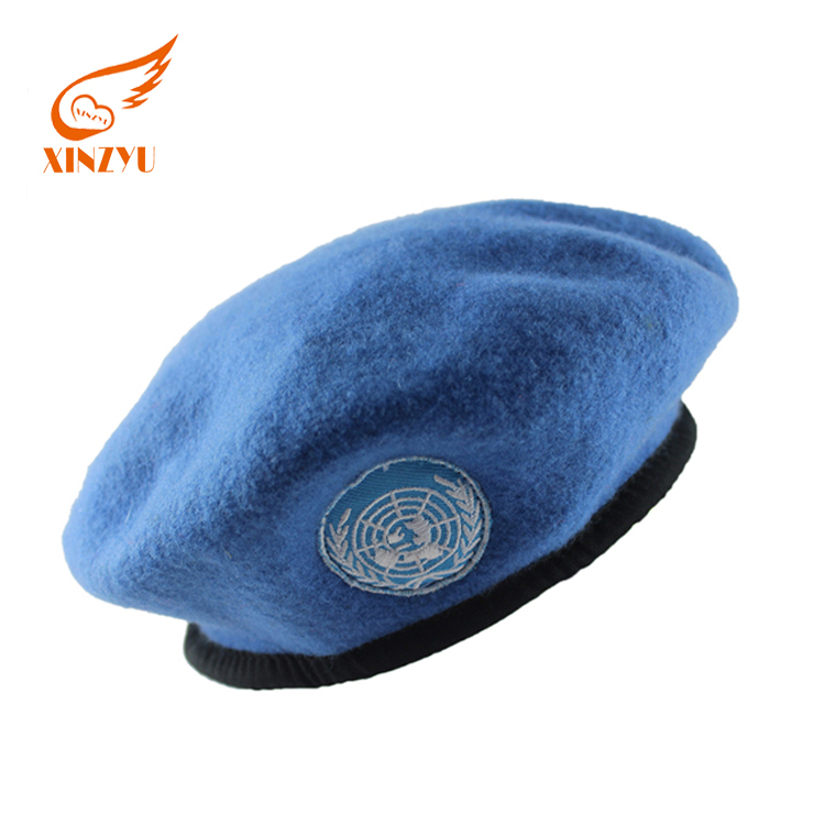 de1067ebcfa1a Custom Embroidery Patch Military Beret Navy Blue Political Beret Hat - Buy  Embroidery Patch Beret Hat