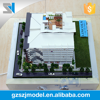 Multi storey residential building models 3d, View building models 3d, SZJ  Brand Product Details from Guangzhou Shangzhijing Building Model Co , Ltd