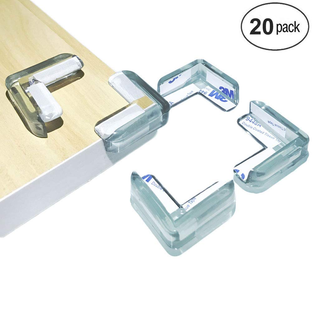 20 Pack Baby Proofing Corner Guards Clear Edge Bumpers for Baby Safety Amo Corner Protector