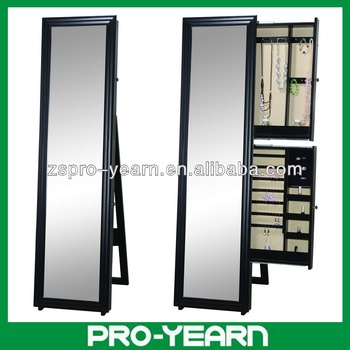 Full Length Wooden Furniture Chinese Dressing Mirror With Jewelry Storage  Cabinet And Holder And Stylish