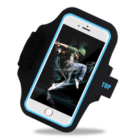 2017 New Personized Neoprene Men Black Case 5.5 inch Mobile Phones Running Fabric Reflective Sport Armband for