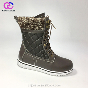 Fashion Lace Up Canada Winter Boots For Women New Style Warm Snow Pu Shoes