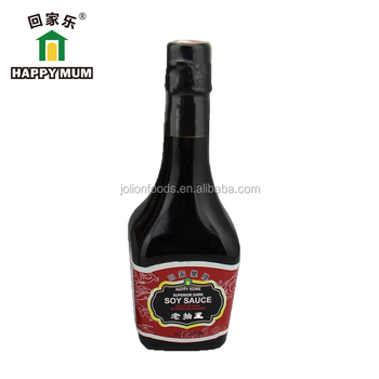 China BRC HALAL Approved Traditional Dark Soy Sauce Manufacturer glass bottle