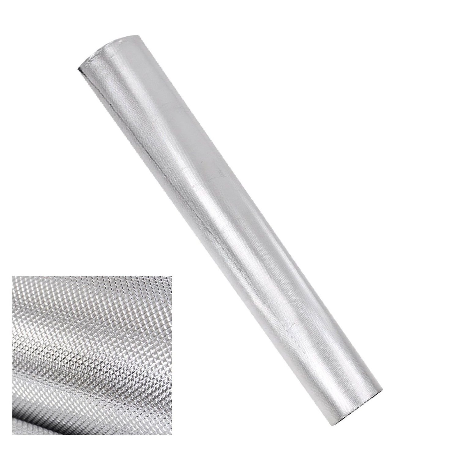 GHP 100'Lx5'W 210D Silver Lightproof Oxford Cloth Diamond Foil Reflective Mylar