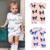 New Summer Animal style Short Sleeve Jumpsuit cotton newborn baby clothes Infant Clothing Baby rompers