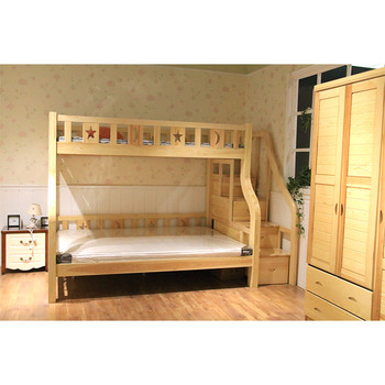 Children Wooden Double Deck Bed Design High Quality Bunk Wood For Kids