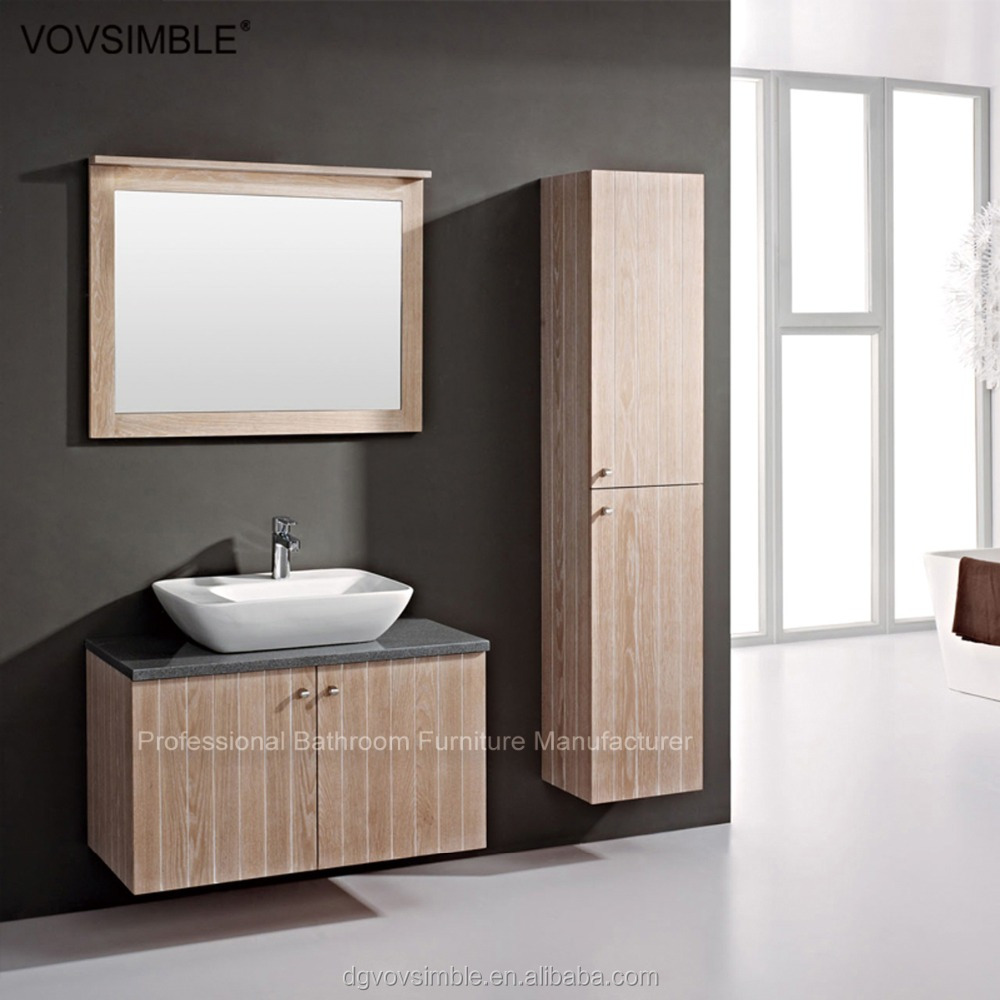 gros moderne mur mont en bois massif salle de bains. Black Bedroom Furniture Sets. Home Design Ideas