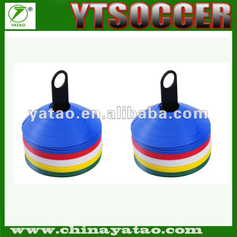 2017 hotsale High Multicolor Soccer disc Cones Markers, with a carry strap or bag discs cone