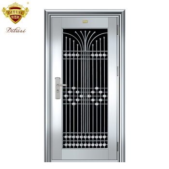 Low Price Modern Steel Door Security Exterior Stainless Front Design