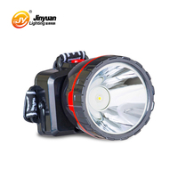 outdoor camping lighting 1w led headlight torch light lamp head with rechargeable battery