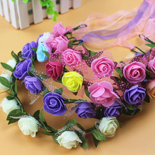 Fashion holiday travel gifts DIY rose flower garlands