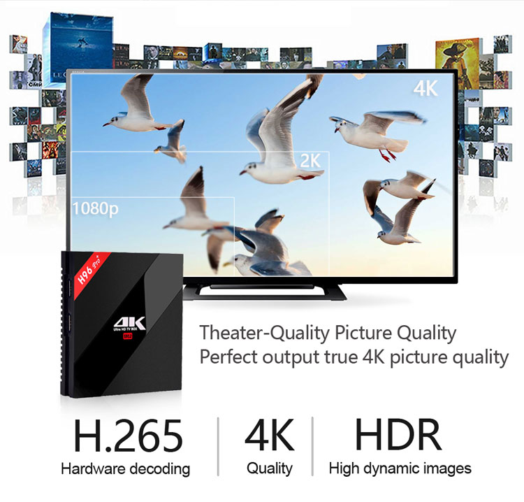 Hot h96 pro plus 3g 32g Inteligente Caixa de TV Android 7.1 Amlogic S912 Octa Núcleo Wi-fi 4K h96 media player h96pro set top box