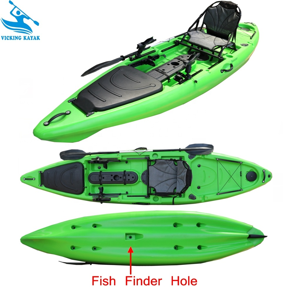 Plastic One Person Seat Fishing Sit On Kayak With Rudder And Foot Rest