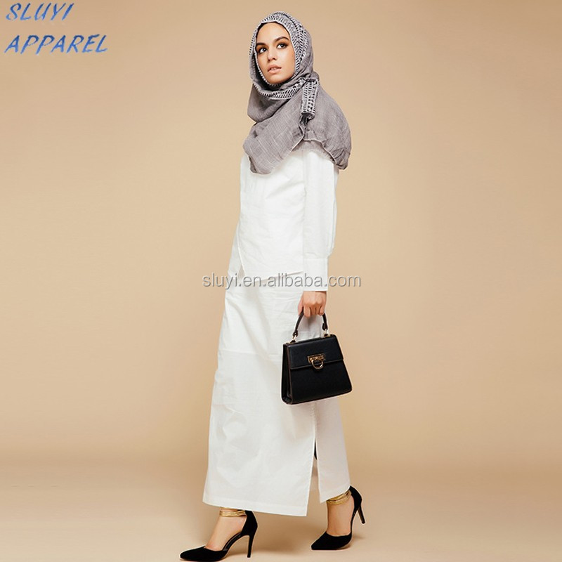 Wholesale Girls High Fashion Casual Dress Muslim Daily Wear Office ...