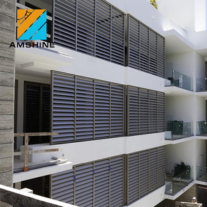 Oval shape sun shade aluminum window louvre /shutters