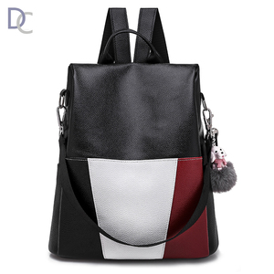 Fashion superior quality ladies travel leather backpack bag