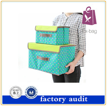 Square non woven foldable storage box for organizing