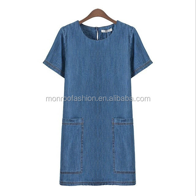 monroo high quality long jeans dress