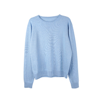 100%Cashmere knitting round collar men's sweater pullover