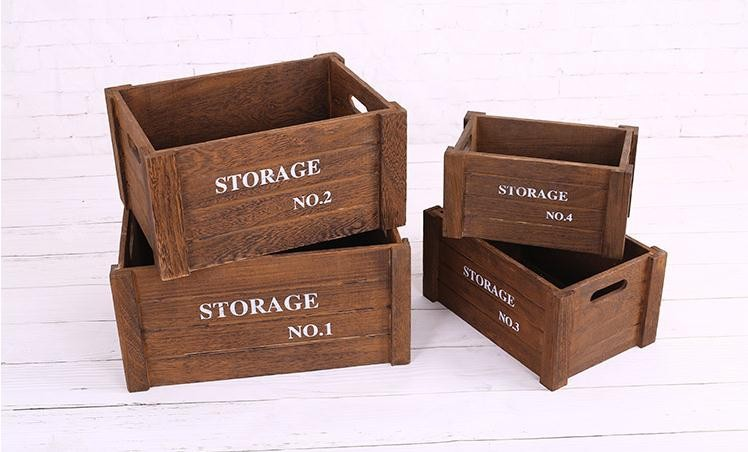 customized cheap antique wooden crates wholesale buy