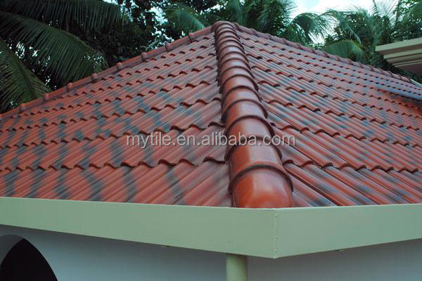 Interlocking Metal Roof Shingles For Glazed Ceramic Roof