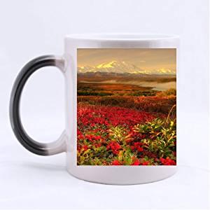 Alaska Beautiful Garden Red Rose Awesome Beautiful Flower Garden Customized Morphing Mug (Twin Sides)