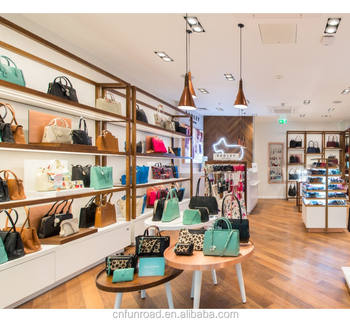 Fashion Retail Las Bags Handbag Display Cabinet Stands For