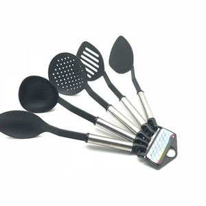 nylon kitchenware tools stainless steel kitchen utensil set of 5piece