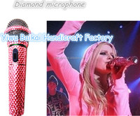 Crystal Handheld Professional Bling Wireless Microphone - Buy ...