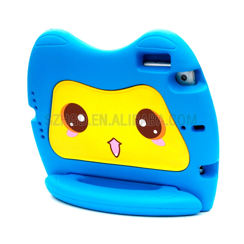 Animal shape super protective kids shockproof case for ipad mini cute cat case