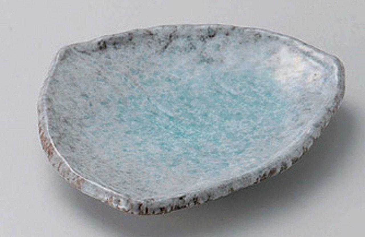 BANKO-YAKI BLUE-GLAZE Jiki Japanese traditional Porcelain Small Plate