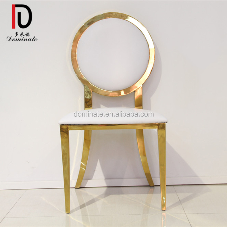 Canton Fair Competitive price noble round back modern chair for banquet