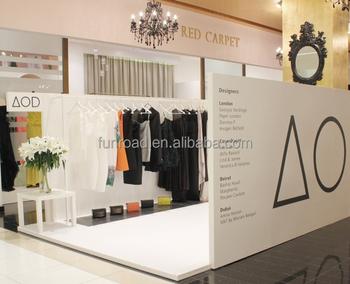 Pareti In Legno Bianco : Moda popup store design in legno bianco falso pareti con