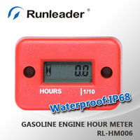 Waterproof Racing Inductive Motocross Hour Meter Red