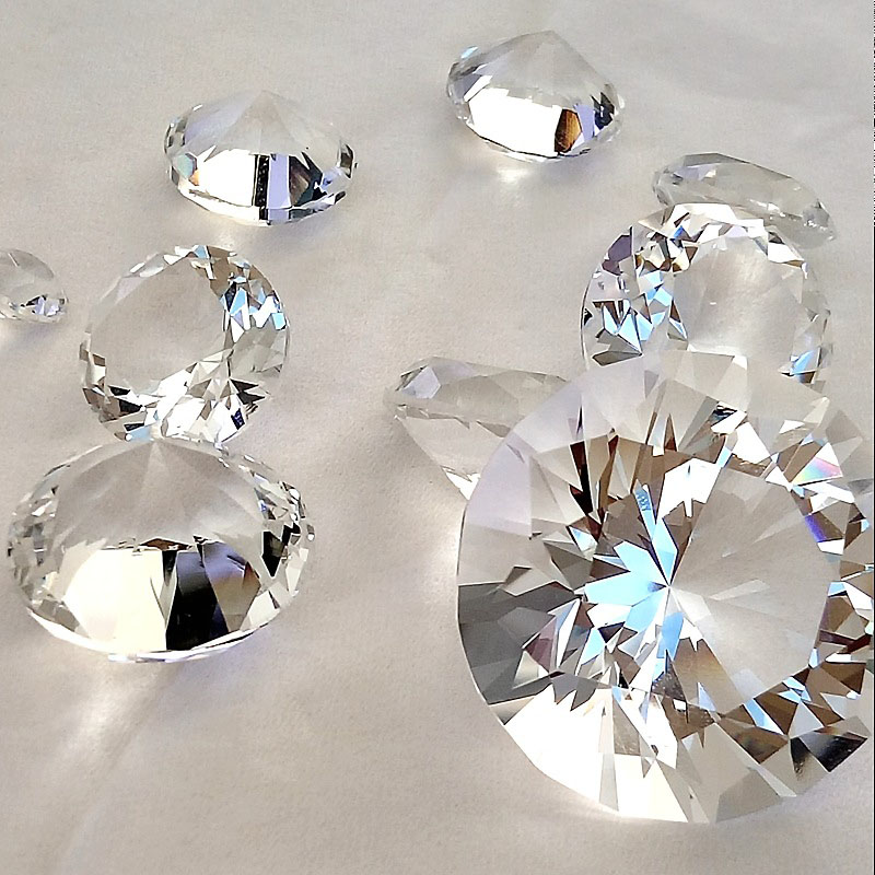 Good Quality 60mm Auqa Crystal Glass Diamond For Home Decoration And Wedding Gift For Guest