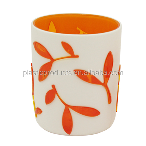 bath accessory set orange plastic Tumblers,colored bathroom tumbler for bathroom accessories