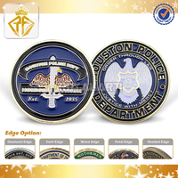 Custom Department Metal Soft Enamel Challenge Coin for Souvenir