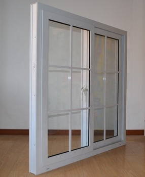 European style upvc plastic sliding windows