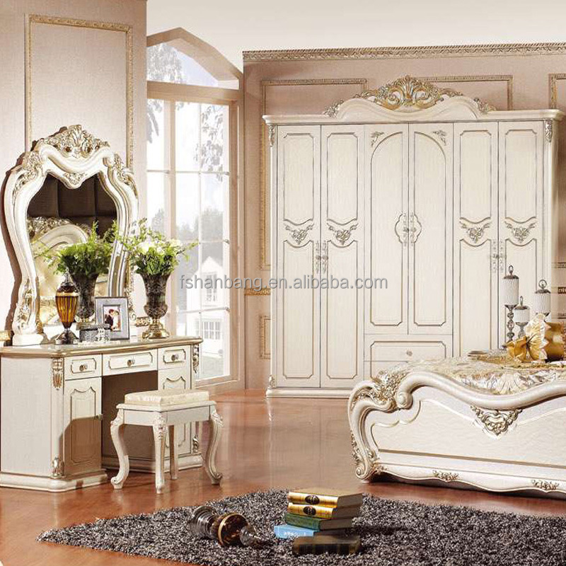 g nstige gro handel wei braun klassische franz sisch european style antiken mdf holz 5 st cke. Black Bedroom Furniture Sets. Home Design Ideas