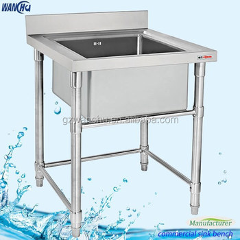 Commercial Kitchenware Stainless Kitchen Sink,Stainless Steel Kitchen Sink,Portable  Sink With Splashback