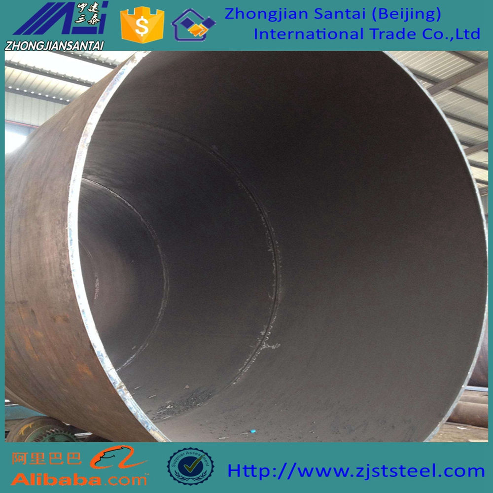 Welded steel pipe and ms erw black round steel tube q235 a53 ss400