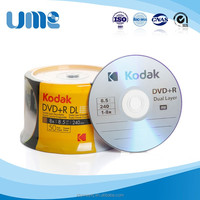 Blank Discs Media 8.5GB Dual layer DVD with dvd case