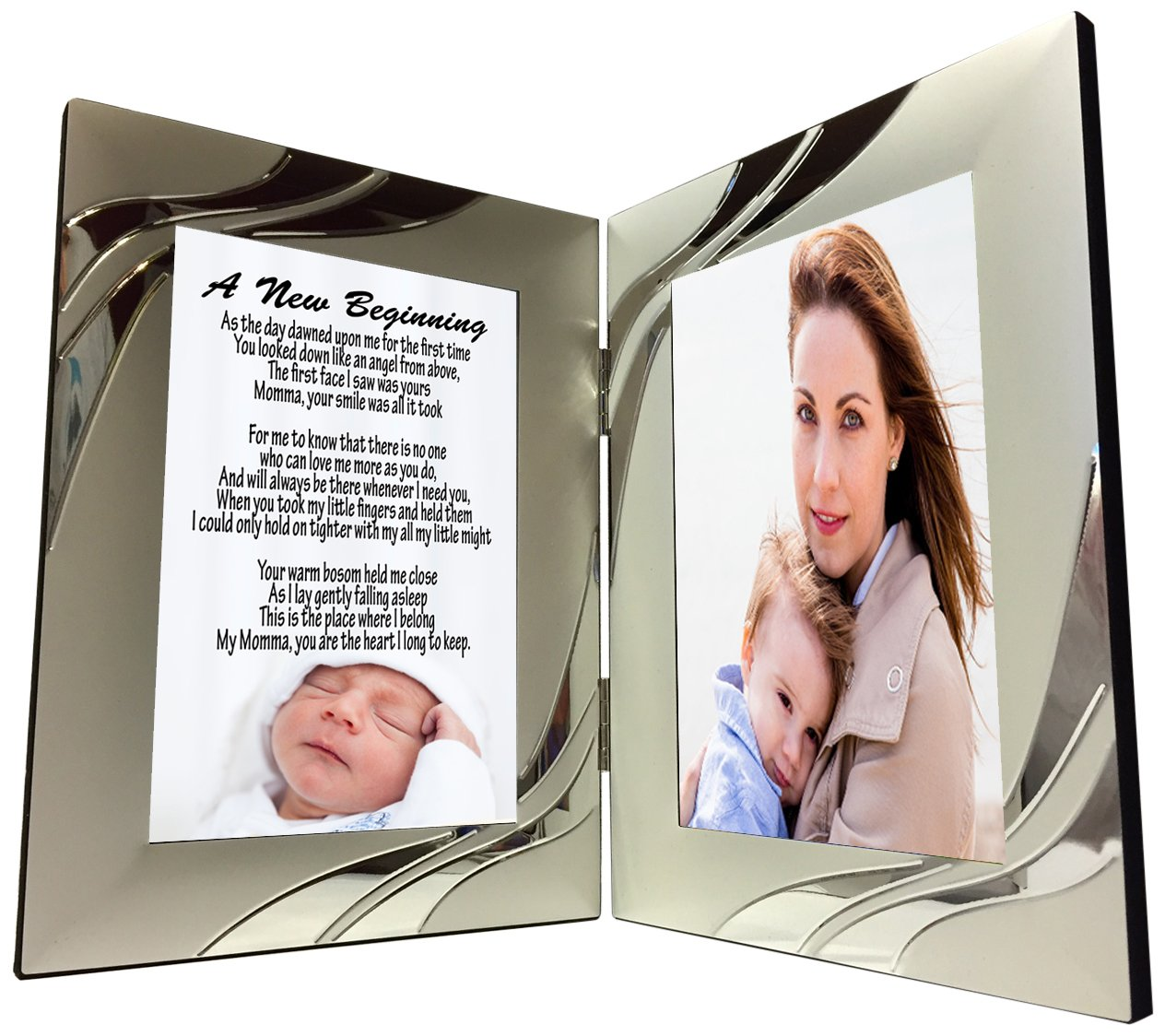 get quotations gift for new mom from baby unique sentimental poem in 4 x 6 inch silver