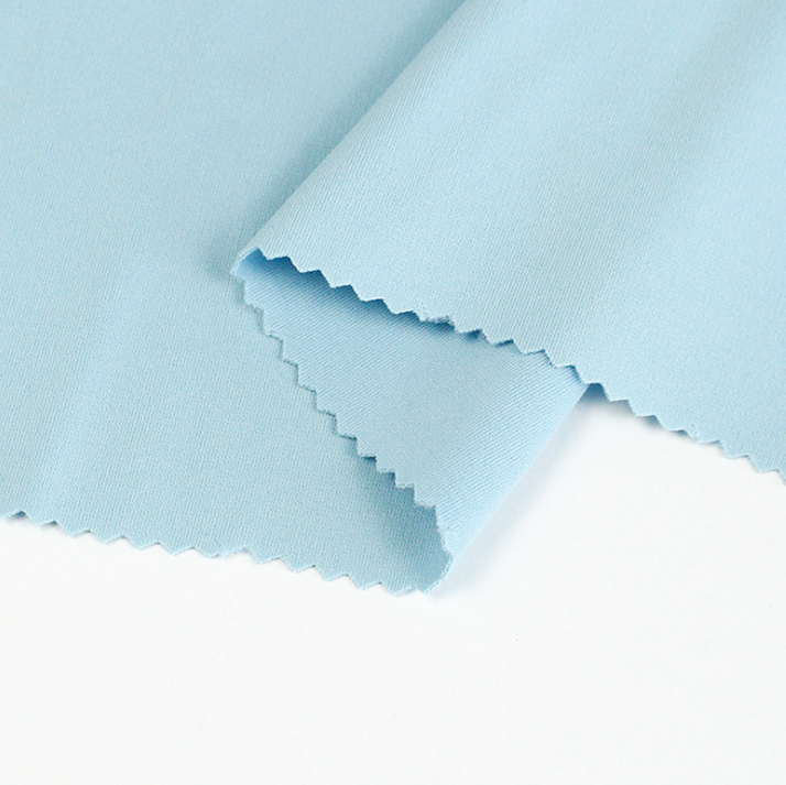 Polyester elastane lycra textured 4 way stretch fabric price composition in stock for swimwear