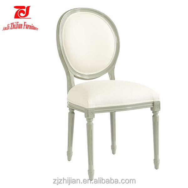 Home Furniture Louis Ghost Chair Upholstered Cheap Restaurant Chairs ZJF52