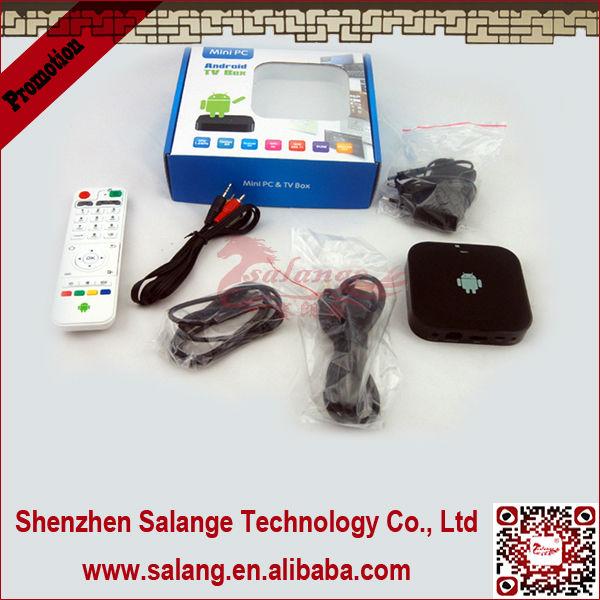 New 2014 made in China AMLogic Dual Core full hd android 4.0 <strong>tv</strong> <strong>box</strong> with wifi + hdmi 1.3 by salange