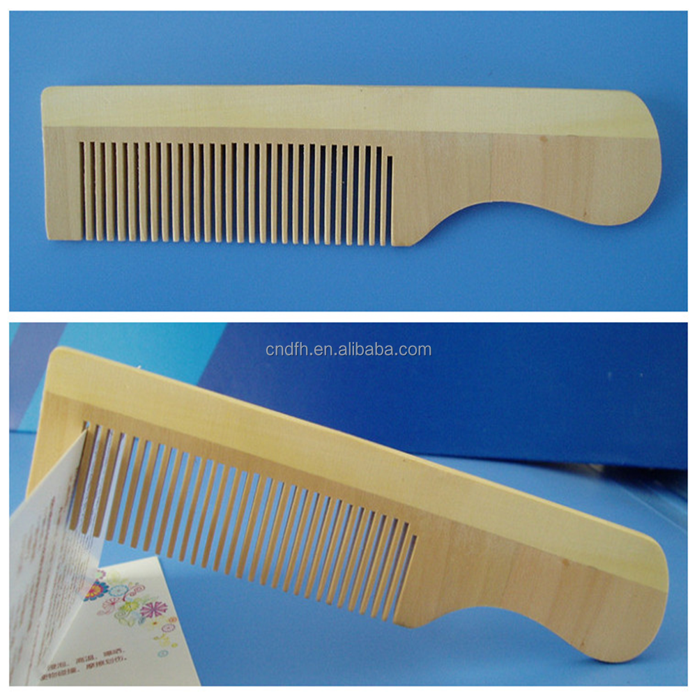 Moustache and beard wooden comb maple wood wholesale