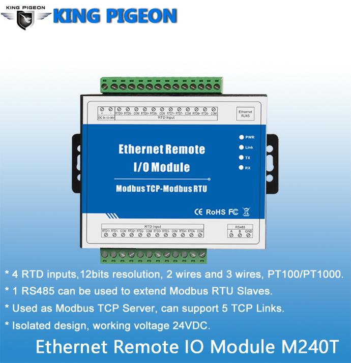 Modbus Tcp Ethernet Remote I/o Module (2di+2do+2ai+rj45+rs485) M100t ...