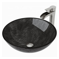 Bathroom UPC Round Tempered Glass Vessel Wash Sinks Basin Bowls