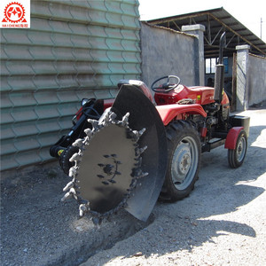 Long life High quality mini farm tractor grader disc trencher machine